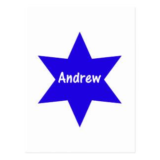 Andrew (blauer Stern) Postkarte