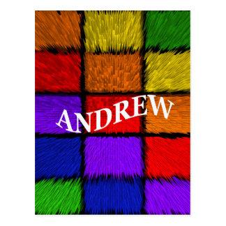 ANDREW (männliche Namen) Postkarte