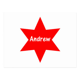 Andrew (roter Stern) Postkarte