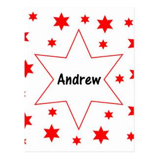 Andrew (Rotsterne) Postkarte