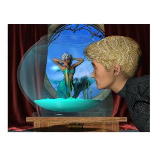Andrews-Aquarium-Fantasie-Kunst Postkarte
