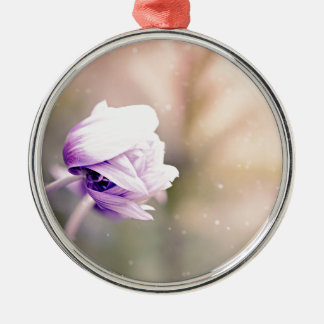 Anemone Silbernes Ornament