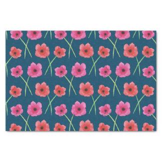 Anemonen-Blumewatercolor-Malerei-Muster Seidenpapier