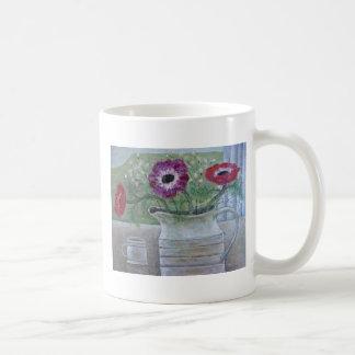 Anemonen in weißem Krug 2013 Kaffeetasse