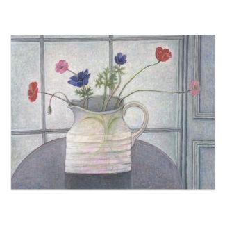 Anemonen- und Mohnblumenkrug-Blumen 2008 noch Postkarte