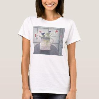 Anemonen- und Mohnblumenkrug-Blumen 2008 noch T-Shirt