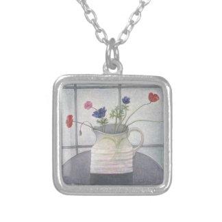 Anemonen- und Mohnblumenkrug-Blumen 2008 noch Versilberte Kette