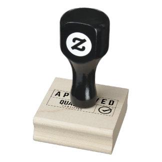 anerkannte Briefmarke Gummistempel