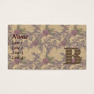 Anfangsb elegante BlumenVisitenkarte des Visitenkarten