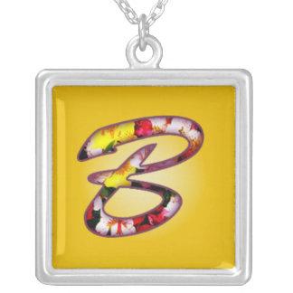 Anfangsb-Halskette Halskette Mit Quadratischem Anhänger
