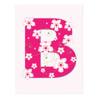 Anfangsb hübsche rosa Blumenpostkarte des Postkarten