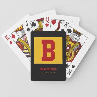 Anfangsb, Name + Text, persönliches Farbgelb Spielkarten
