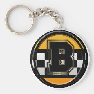 Anfangsb-Taxifahrer Standard Runder Schlüsselanhänger
