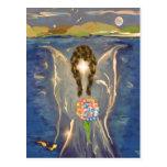 Ange sur l'eau cartes postales
