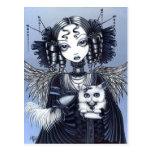 Ange victorien gothique de chat persan d'Elizabeth Cartes Postales