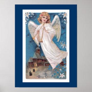 Ange vintage de Noël Posters