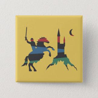 Angebrachter Meister gegen Schloss Quadratischer Button 5,1 Cm