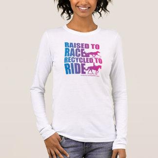 Angehoben, um Recyceld zu laufen, um zu reiten Langarm T-Shirt