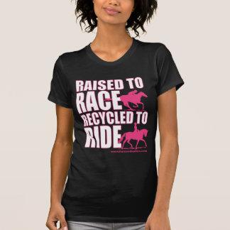 Angehoben zum Rennen gerecycelt, um zu reiten T-Shirt