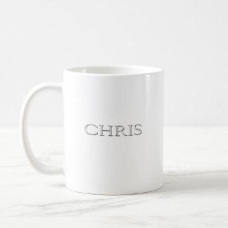Angehobene Beschriftung Chris Gewohnheit Kaffeetasse
