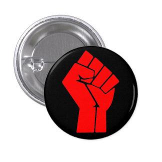 Angehobene Faust Runder Button 2,5 Cm