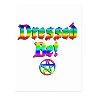 Angekleidet seien Sie Regenbogen Postkarte