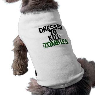 Angekleidet, um Zombies zu töten Ärmelfreies Hunde-Shirt