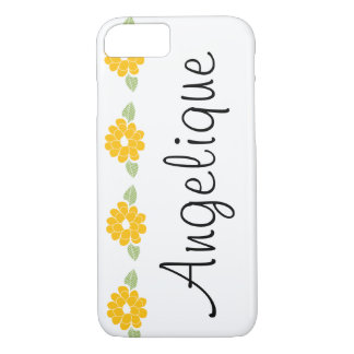 Angelique gelbe NamensBlumen iPhone 8/7 Hülle