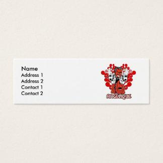Angelique Mini Visitenkarte