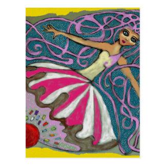 Angeliques Tee-Party im Juni Postkarte