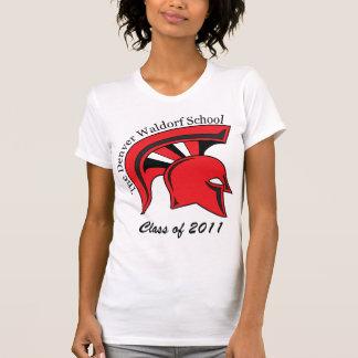 Angepasste der Behälter-Spitze der Frauen T-Shirt