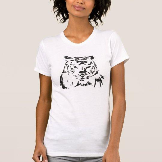 Angepasster der Tiger-T - Shirt der Frauen