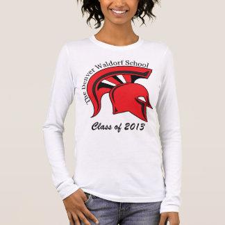 Angepasster langer die Hülsen-T - Shirt der Frauen