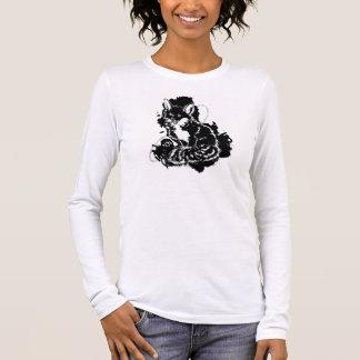 Angepasstes langes Sleeved Shirt abstrakte