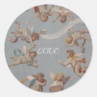 Anges lunatiques de la Renaissance Sticker Rond