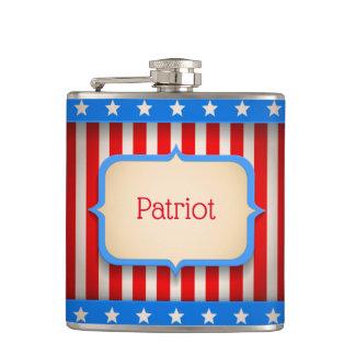 Angesagte Flasche mit amerikanischer Flagge für Flachmann