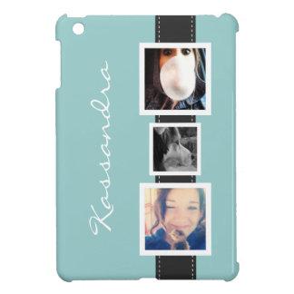 Angesagte Instagram Foto-Collage 3 Fotos und Name iPad Mini Hülle