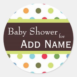Angesagter Punkte Baby-Duschen-Aufkleber Runder Aufkleber