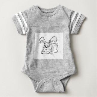 Angesagtes Hopfen, ein Häschen-Kaninchen Baby Strampler
