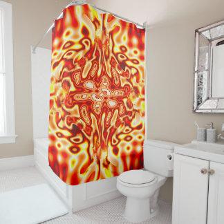 Angesteckter Duschvorhang