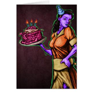 Angesteckter Geburtstag Karte