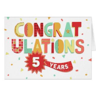 Angestellt-Jahrestag 5 Jahre Spaß-Glückwunsch- Karte