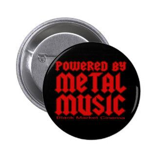 Angetrieben durch MetallMusikfan-Todesmetall Runder Button 5,7 Cm