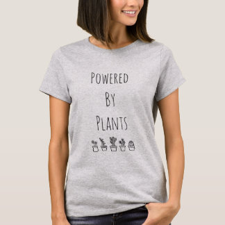 Angetrieben durch Pflanzen-T - Shirt