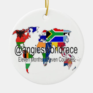 """@angiesworldrace 15"""" Kreis-Verzierung - Weiß Keramik Ornament"""
