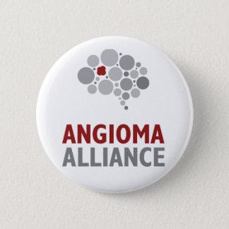 Angioma-Alliance-Logo-Gang Runder Button 5,7 Cm