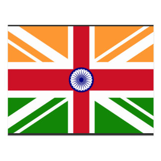 Angloinder Indentity, Indien Postkarte
