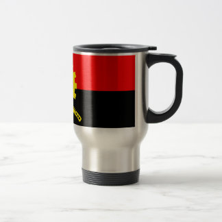 Angola-Flagge Edelstahl Thermotasse