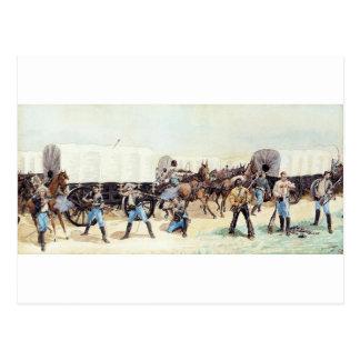 Angriff auf dem Versorgungs-Zug durch Frederic Postkarte