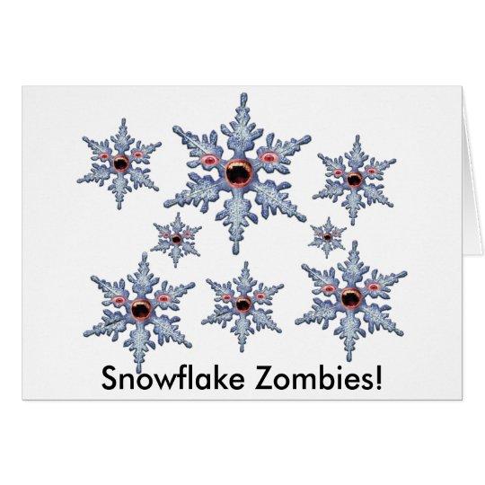 Angriff der Schneeflocke-Zombies! Grußkarte